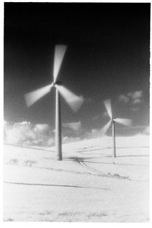 Wind turbine in the snow